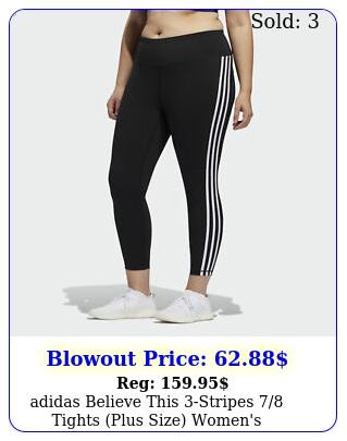 adidas believe this stripes tights plus size women'