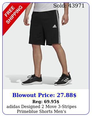 adidas designed move stripes primeblue shorts men'