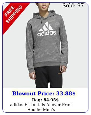 adidas essentials allover print hoodie men'
