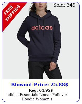 adidas essentials linear pullover hoodie women'