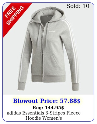 adidas essentials stripes fleece hoodie women'