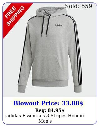 adidas essentials stripes hoodie men'