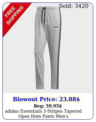 adidas essentials stripes tapered open hem pants men'