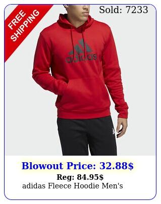 adidas fleece hoodie men'