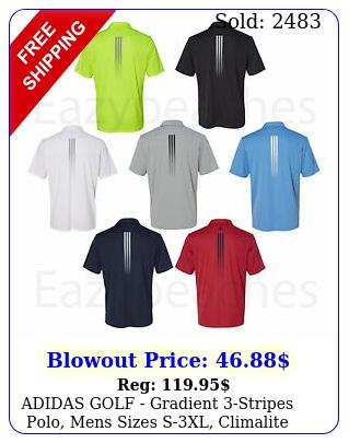 adidas golf gradient stripes polo mens sizes sxl climalite sport shir