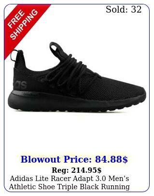 adidas lite racer adapt mens athletic shoe triple black running sneake