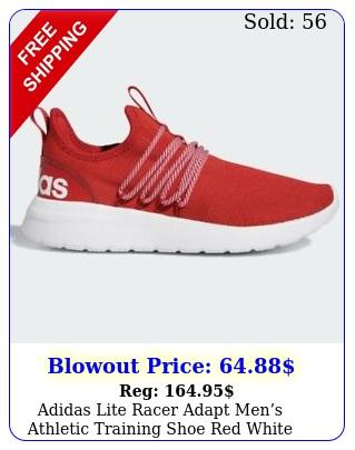 adidas lite racer adapt mens athletic training shoe red white running sneake