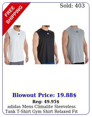 adidas mens climalite sleeveless tank tshirt gym shirt relaxed fit te