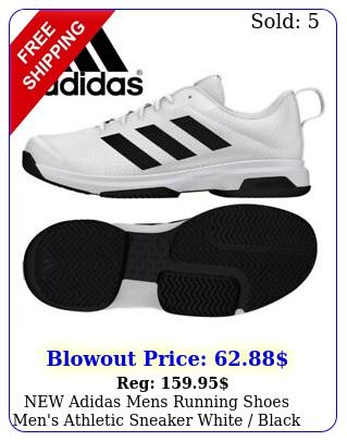 adidas mens running shoes men's athletic sneaker white black siz