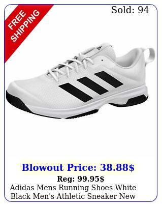 adidas mens running shoes white black men's athletic sneake