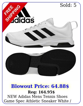 adidas mens tennis shoes game spec athletic sneaker white black f