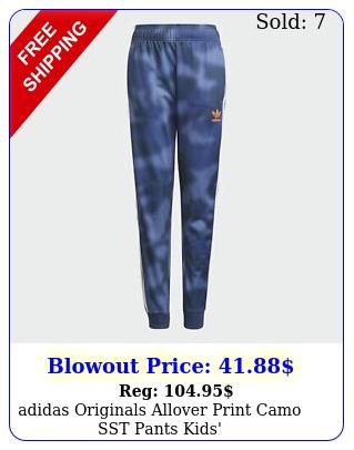 adidas originals allover print camo sst pants kids