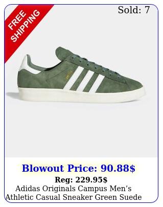 adidas originals campus mens athletic casual sneaker green suede tennis sho
