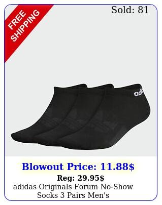 adidas originals forum noshow socks pairs men'