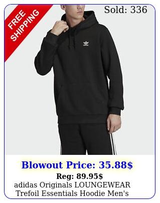 adidas originals loungewear trefoil essentials hoodie men'