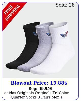 adidas originals originals tricolor quarter socks pairs men'