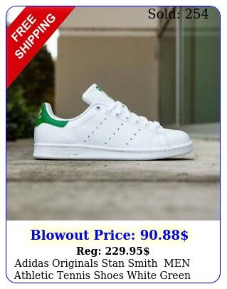 adidas originals stan smith men athletic tennis shoes white green sneaker