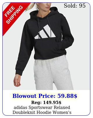 adidas sportswear relaxed doubleknit hoodie women'