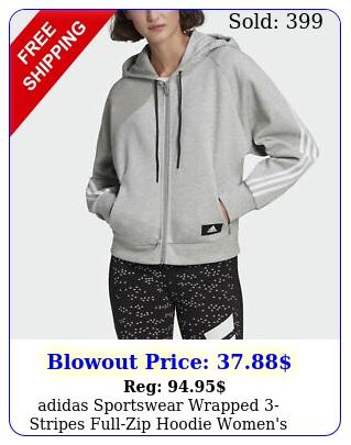 adidas sportswear wrapped stripes fullzip hoodie women'