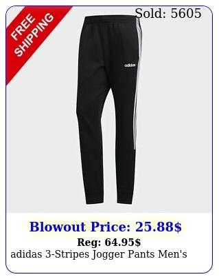 adidas stripes jogger pants men'