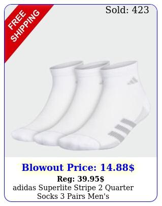 adidas superlite stripe quarter socks pairs men'