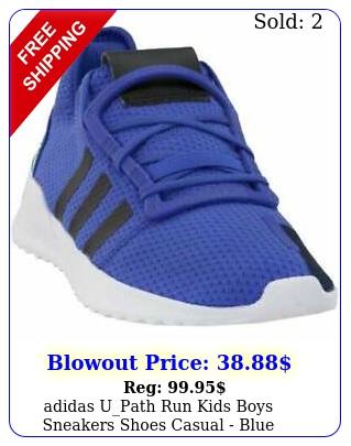 adidas upath run kids boys sneakers shoes casual  blu