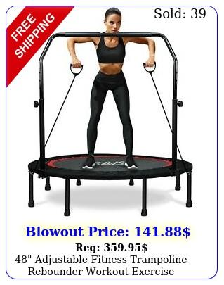 adjustable fitness trampoline rebounder workout exercise wresistance band