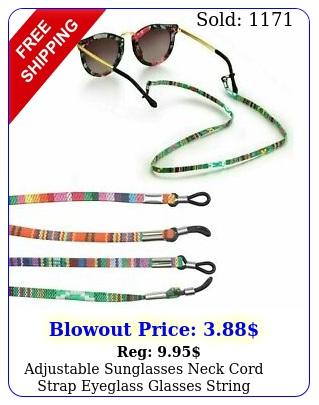 adjustable sunglasses neck cord strap eyeglass glasses string lanyard holde
