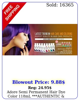 adore semi permanent hair dye color ml authentic free shippin