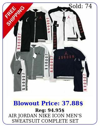 air jordan nike icon men's sweatsuit complete set jacket pants bran