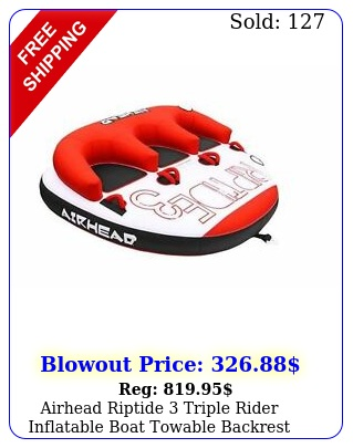 airhead riptide triple rider inflatable boat towable backrest tub