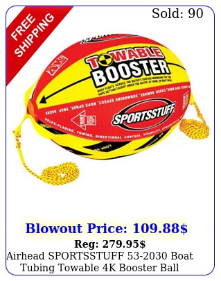 airhead sportsstuff boat tubing towable k booster ball towing syste