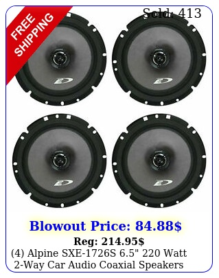 alpine sxes  watt way car audio coaxial speaker