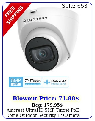 amcrest ultrahd mp turret poe dome outdoor security ip camera ipmtewm