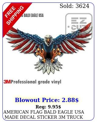 american flag bald eagle usa made decal sticker m truck vehicle window wall ca