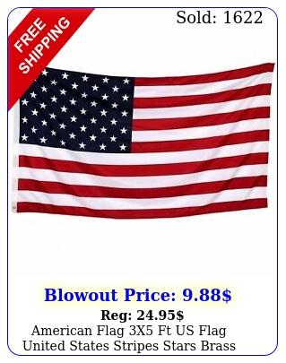 american flag x ft us flag united states stripes stars brass grommet