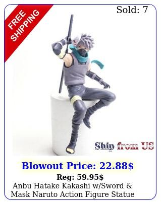 anbu hatake kakashi wsword mask naruto action figure statue toy gift bulk u