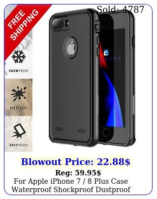apple iphone  plus case waterproof shockproof dustproof series cove