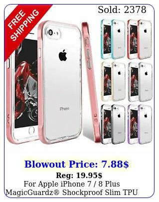 apple iphone  plus magicguardz shockproof slim tpu case cove