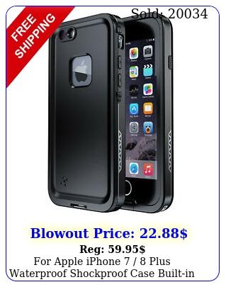 apple iphone  plus waterproof shockproof case builtin screen protecto