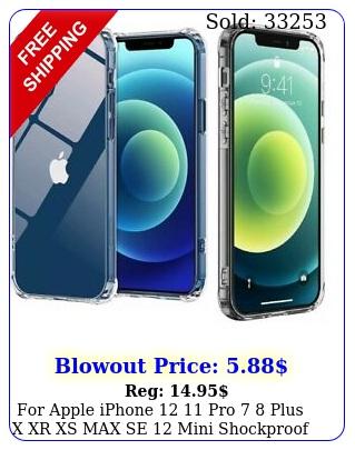 apple iphone  pro  plus x xr xs max se mini shockproof clear cas