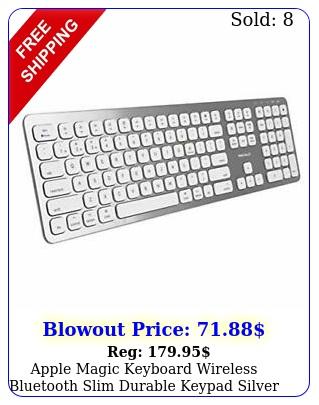 apple magic keyboard wireless bluetooth slim durable keypad silver whit