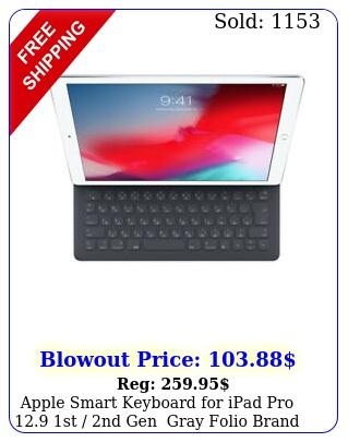 apple smart keyboard ipad pro st nd gen gray folio bran