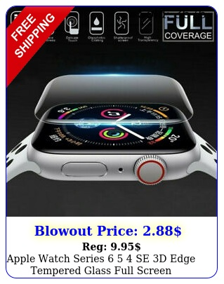 apple watch series  se d edge tempered glass full screen protector m