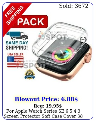 apple watch series se   screen protector soft case cover  m