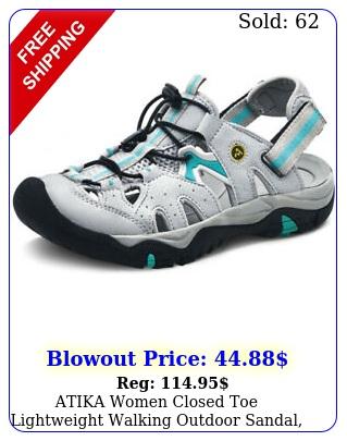 atika women closed toe lightweight walking outdoor sandal athletic water shoe