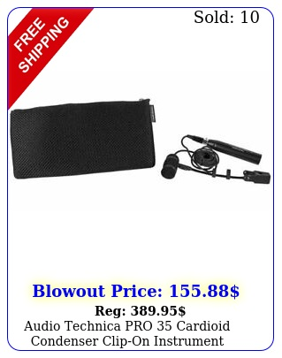 audio technica pro cardioid condenser clipon instrument microphonemic pr