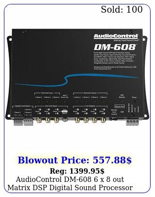 audiocontrol dm x out matrix dsp digital sound processor audio contro