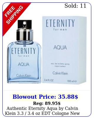 authentic eternity aqua by calvin klein  oz edt cologne i