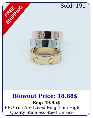 bbo you are loved ring mm high quality stainless steel unisex perfect gift